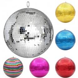 Mirror disco ball - rotating - reflective - 10cm / 15cm / 20cm / 25cm / 30cm