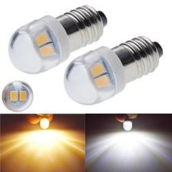 E10 - LED bulb - 3V / 6V - xenon white - 2 pieces