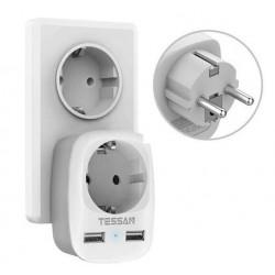 EU plug - wall socket - with dual / triple USB ports