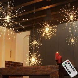 Firework light garland - LED string - with remote - waterproof - christmas / outdoor decoration