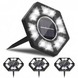 Solar garden light - ground lamp - waterproof - LED - hexagon shaped - driveway / lawn