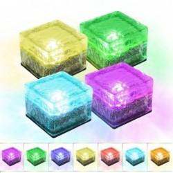 Garden / driveway solar light - brick / glass stone - LED