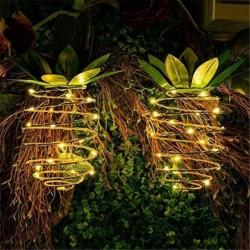 Solar garden light - hanging lamp / lantern - waterproof - LED - pineapple shape