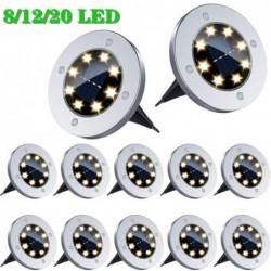 Solar powered ground lamp - garden light - waterproof - LED