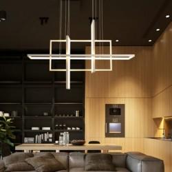 Luxurious chandelier - ceiling light - LED - minimalist rectangle design - 2 / 3 / 4 heads