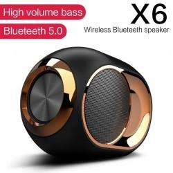 X6 - wireless Bluetooth speaker - HiFi bass - waterproof - FM radio - TWS - SD - AUX
