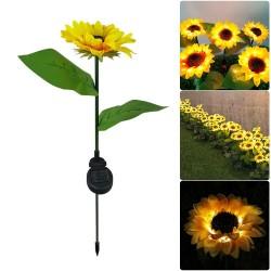 Sunflower shaped garden light - solar powered - LED - waterproof