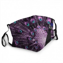 Protective face / mouth mask - reusable - waterproof - purple peacock print