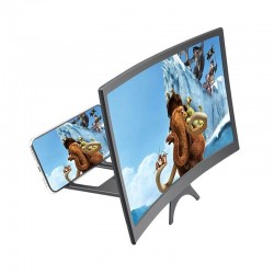 """12"""" - HD projector - phone screen magnifying - curved glass - adjustable"""