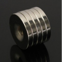 N50 Neodymium Magnet Strong Round Countersunk With 5mm Hole 20 * 3mm 5pcs