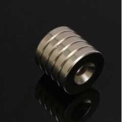 N50 Neodymium Magnet Strong Countersunk Ring With 5mm Hole 20 * 4mm 5pcs