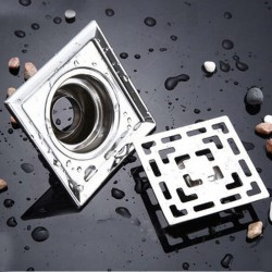 Square Floor Drain Stainless Steel Water Strainer 10cm