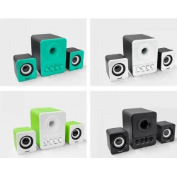 3W PC 2.1 Speaker Set Subwoofer Wired USB