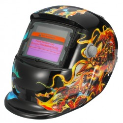 Yellow & Blue Solar Mask Auto-Darkening Welding Helmet