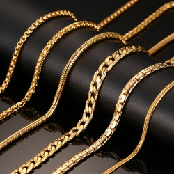 Gold Chain Necklace 60cm