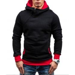 Men's hoodie with side zipper