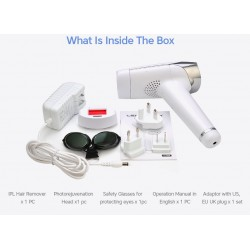 2 in 1 IPL Laser gun for hair removal epilator