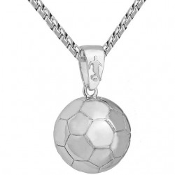 Football Pendant Stainless Steel Necklace