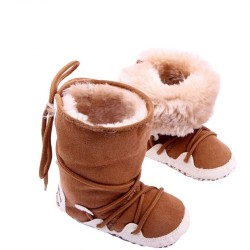 Newborn Toddler Cotton Soft Thick Warm Fleece Shoes Boots First Walkers