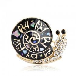 Fashion Shell & Snail Brooch