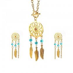 Dreamcatcher Necklace & Earrings Jewellery Set