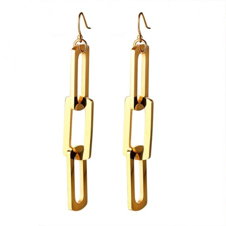 Triple Pin Long Earrings