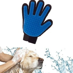 Dog cleaning / massage brush - hair removal glove