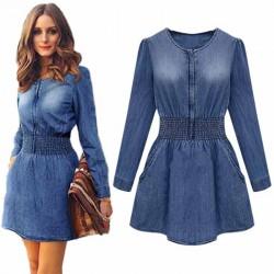 Denim Jeans Vintage Mini Dress