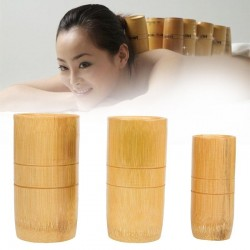 Traditional Chinese Bamboo Suction Cups Acupuncture Anti Cellulite Massage Set 3pcs