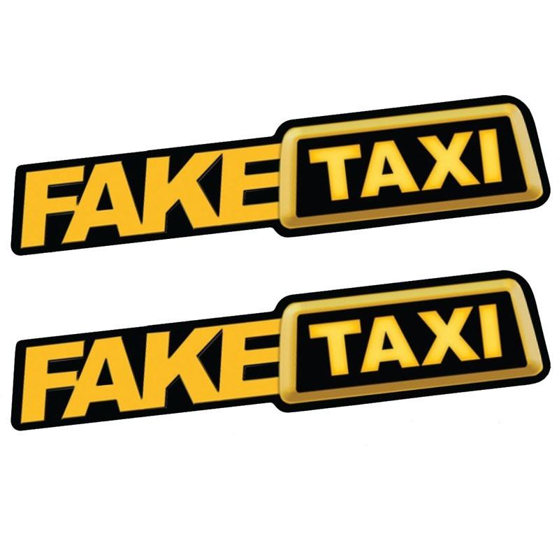 Fake Taxi reflective car sticker decal 2 pieces