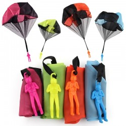 Hand throwing parachute with figure soldier toy 5 pcs