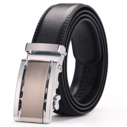 Genuine cowhide leather belt with automatic buckle belt