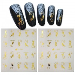 3D design water nail stickers
