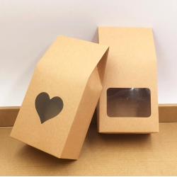 Brown kraft paper bags boxes 50 pcs