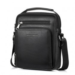 Men's crossbody shoulder leather bag