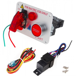 12V Red LED racing car engine start push button ignition switch panel toggle hot