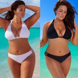 Plus size low waist swimsuit bikini set