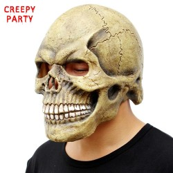 Skull full head halloween mask