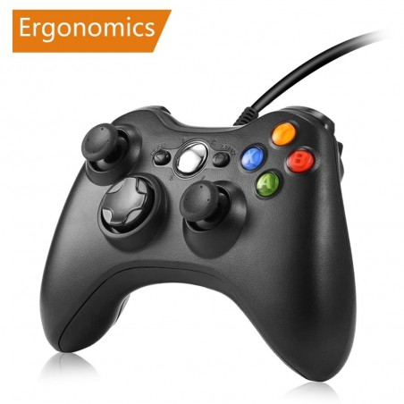 Xbox 360 game controller gamepad wired joystick