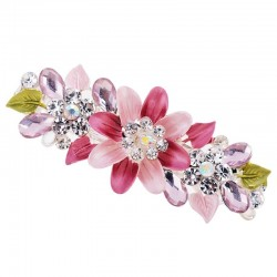 Crystal flower hairpin