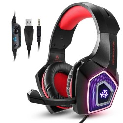PS4 - Xbox One - PC - Hunterspider V1 stereo gaming headset surround headphones with mic & LED light