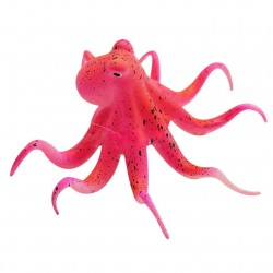 Fluorescent artificial octopus with suction cup