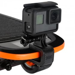 Skateboard motorcycle handlebar - rotated clamp mount - bracket holder for GoPro Hero Action