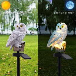 Owl shape - solar powered - outdoor - garden light lamp