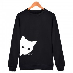 Cat pattern - sweater - loose sweatshirt