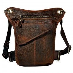 Genuine leather - waist & thigh & hip belt - shoulder bag