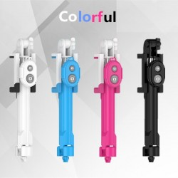 Tripod Bluetooth selfie stick with shutter button for smartphone