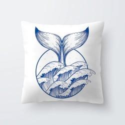 Blue & white sea patterns - pillowcase - cushion cover 45 * 45cm