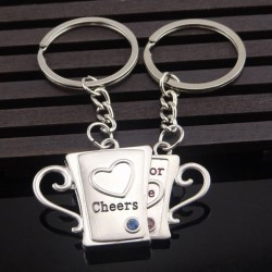 Cheers For Love - keychain 2 pcs