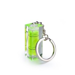Mini acrylic spirit level bubble with keyring - measuring tool